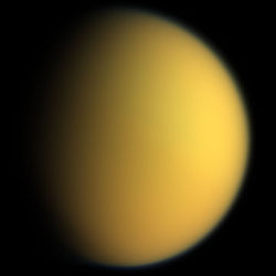 Titan as seen from the Cassini�Huygens spacecraft. Credit: NASA/JPL