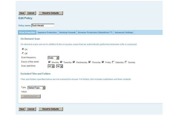 Image 3 � policy management screen