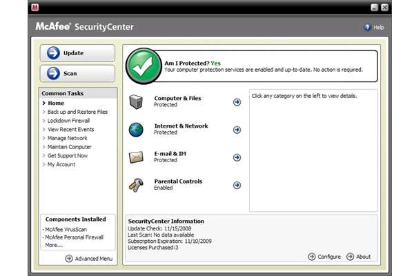 Review Mcafee Total Protection 2009