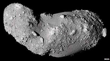 Galactic detritus - The Itokawa asteroid. Image: JAXA.