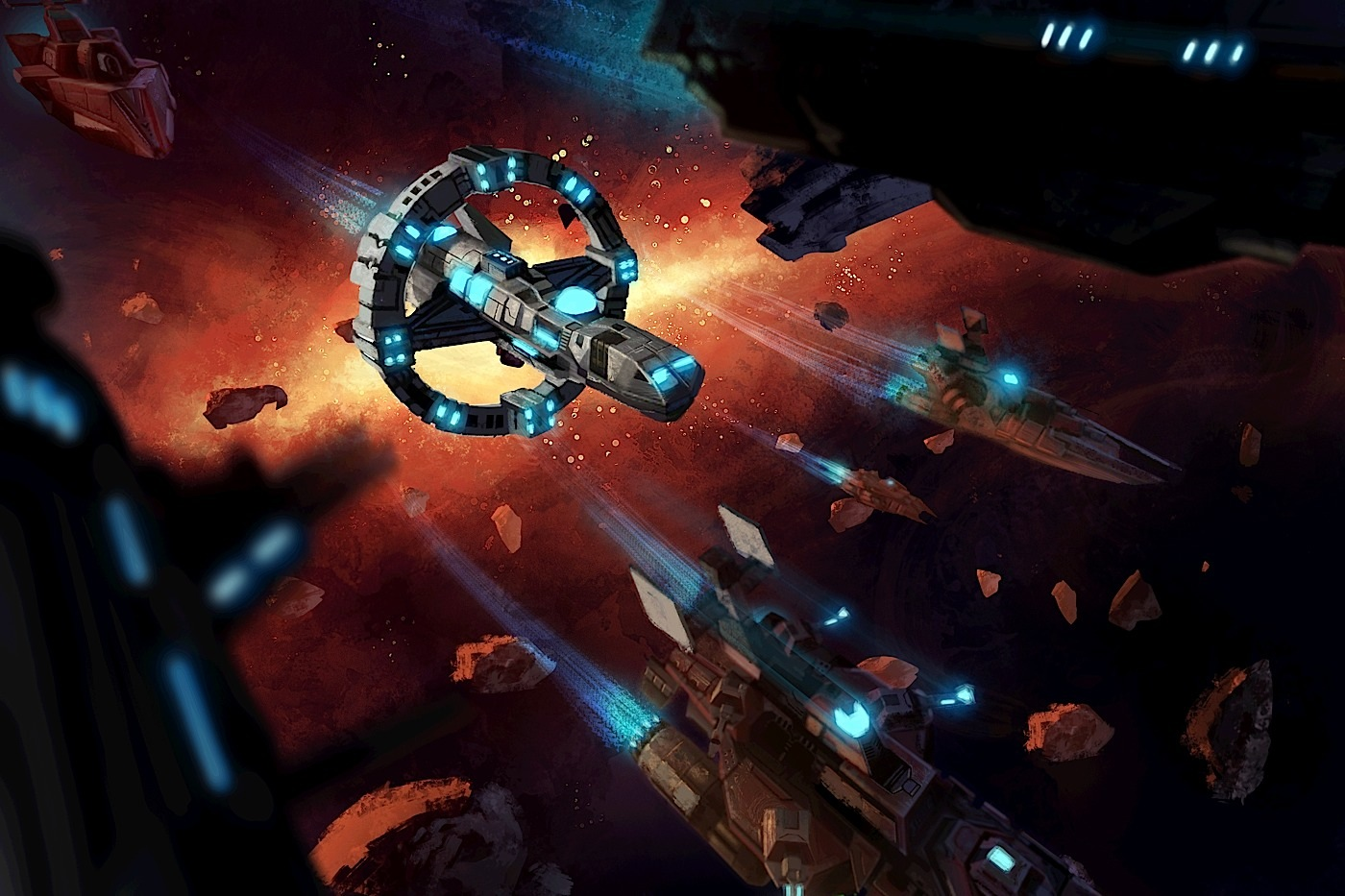 Sid Meier's Starships artwork.