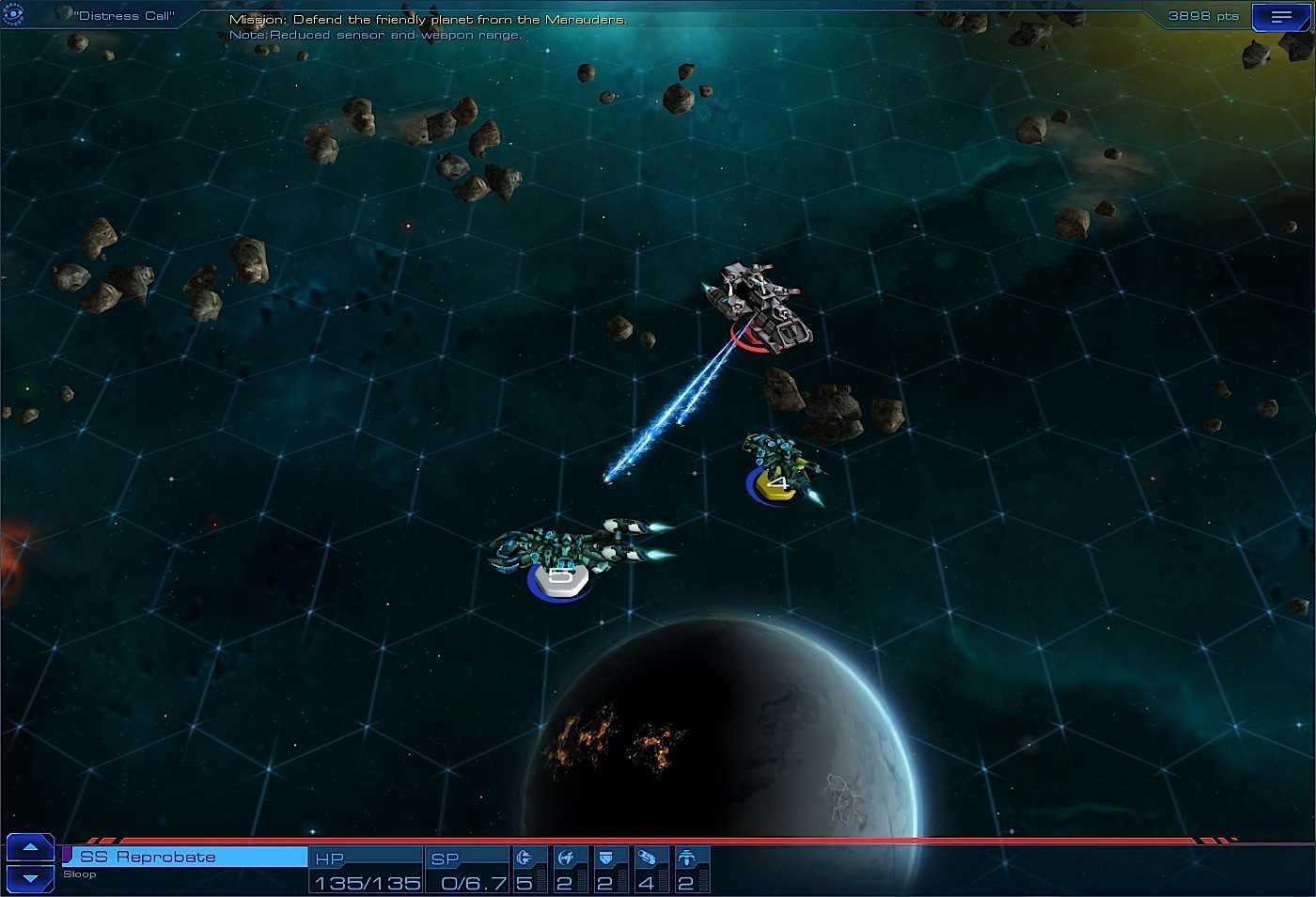 Sid Meier's Starships combat marauder screenshot.