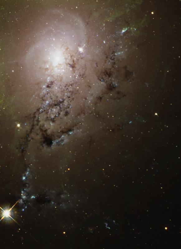 Galaxies collide.