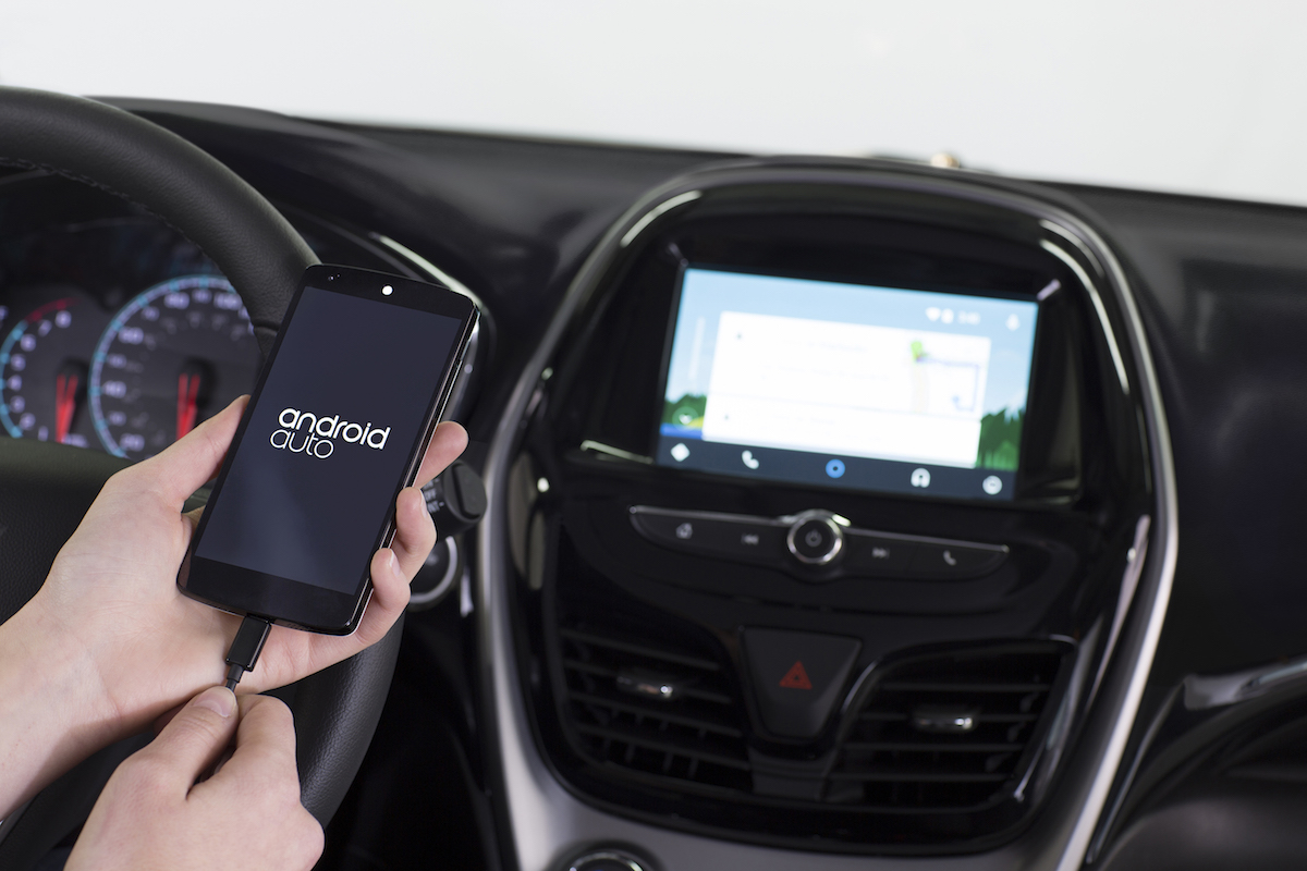 Android Auto being used in the 2016 Chevrolet Spark