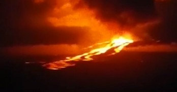 Wolf volcano on one of the Galapagos has erupted for the first time in 33 years.