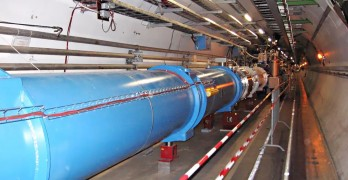 A section of the Large Hadron Collider's tunnel. Pic credit: Julian Herzog CC