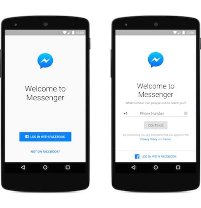 Facebook Messenger No Longer Requires Facebook Account