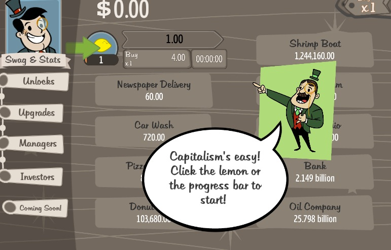 Make your fortune in Adventure Capitalist.