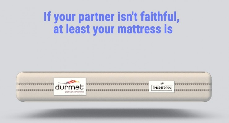 Smart mattress will text you if your partner's cheating on you