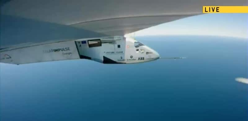 Sun-powered plane Solar Impulse 2 taking part in Atlantic crossing