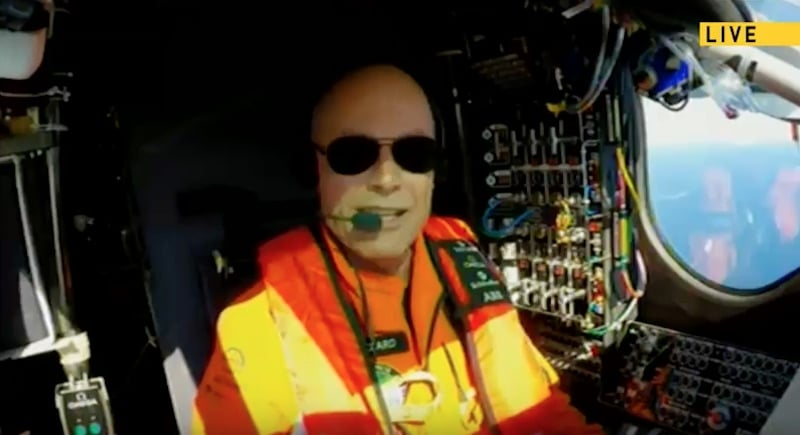 Pilot Bertrand Piccard, who will take a series of short naps during the flight