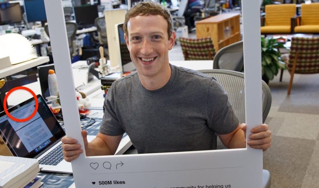 Mark Zuckerberg covers his laptop camera with tape