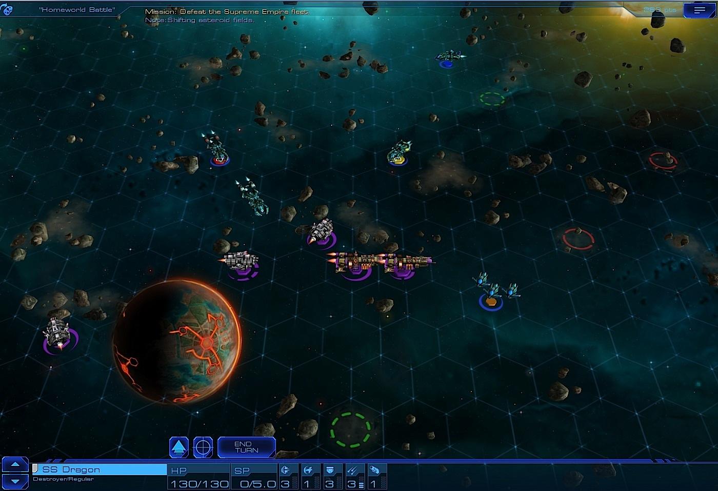 Sid Meier's Starships combat screenshot.