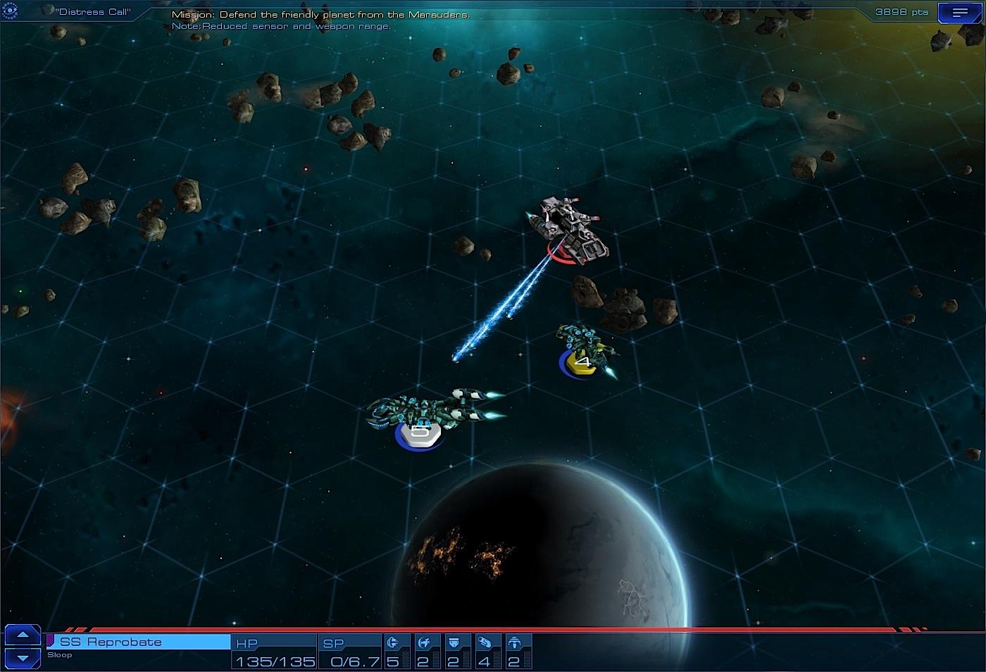 Sid Meier's Starships combat marauder screenshot.