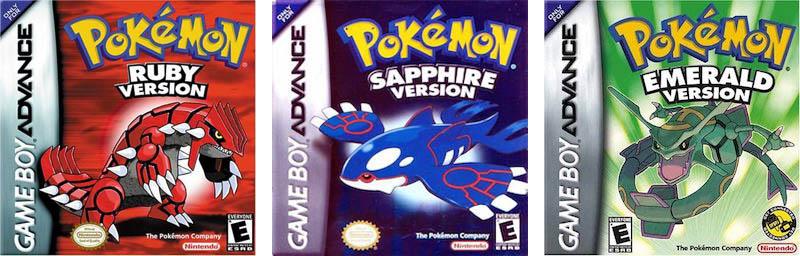 Best GBA Games Pokemon Ruby Sapphire Emerald