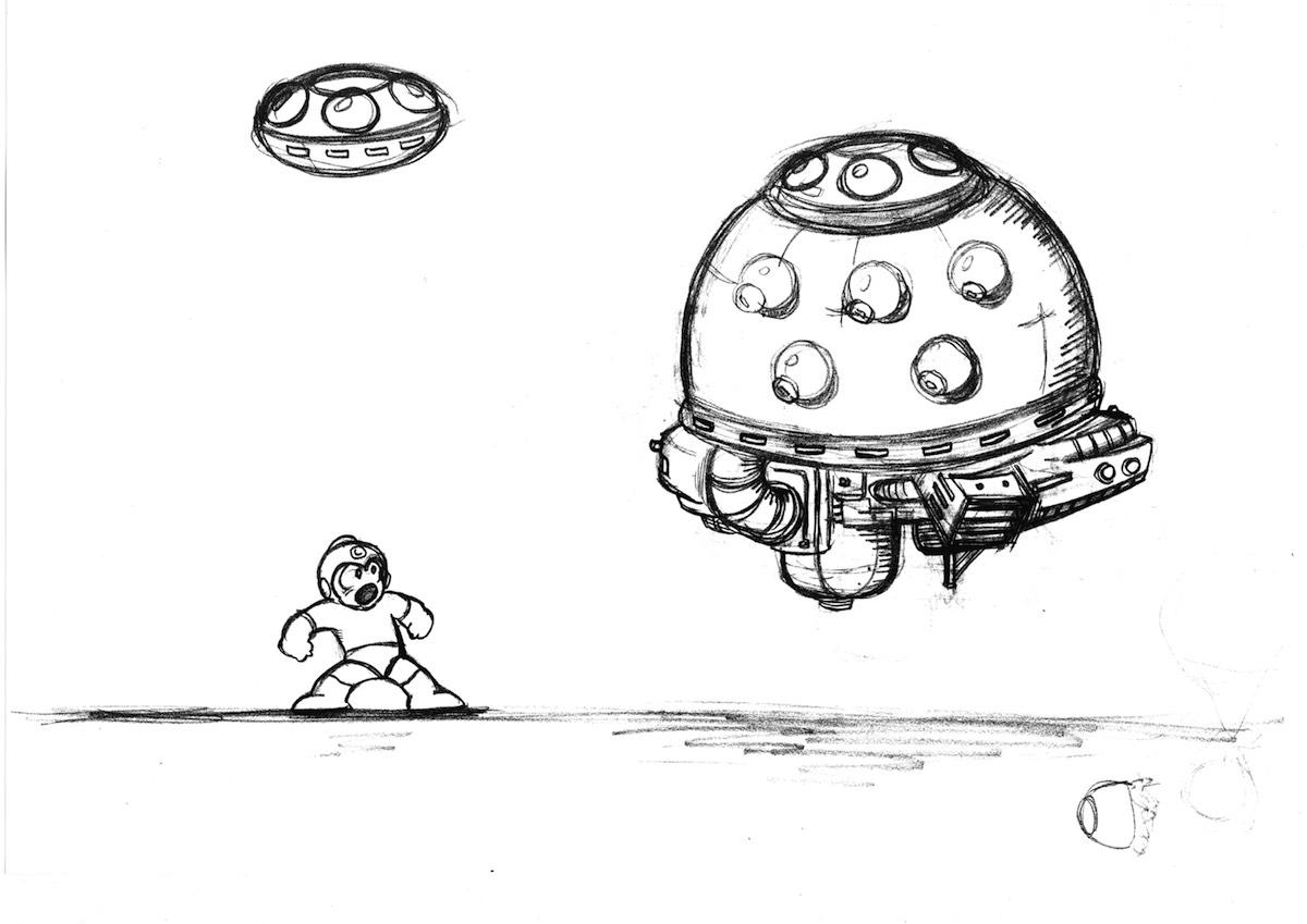 Mega Man sketch 2