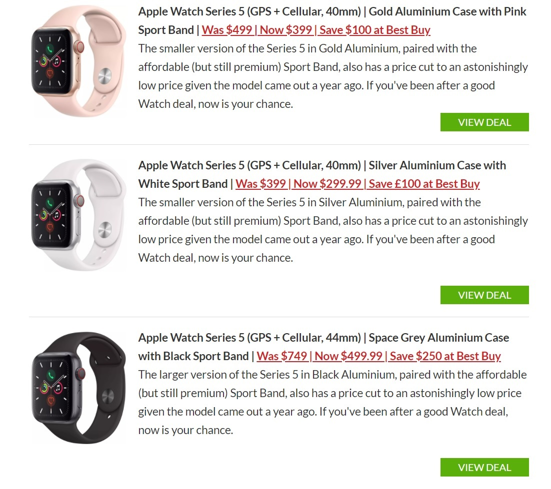 Apple Watch Series 5 Cellular Edition Cyber Monday deal Best Buy US
