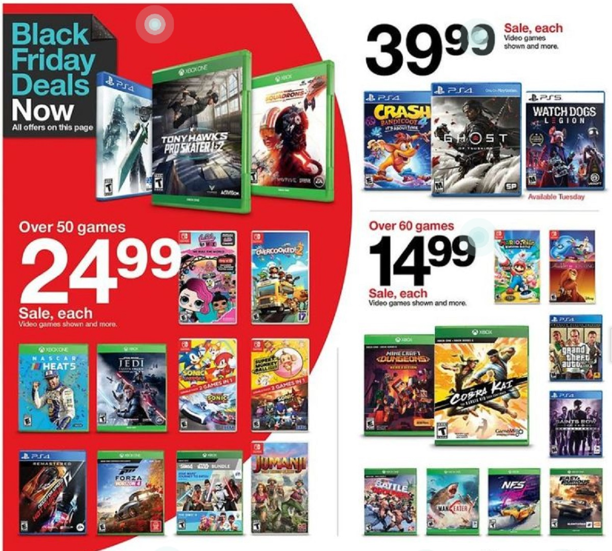 Target Black Friday Game Deals