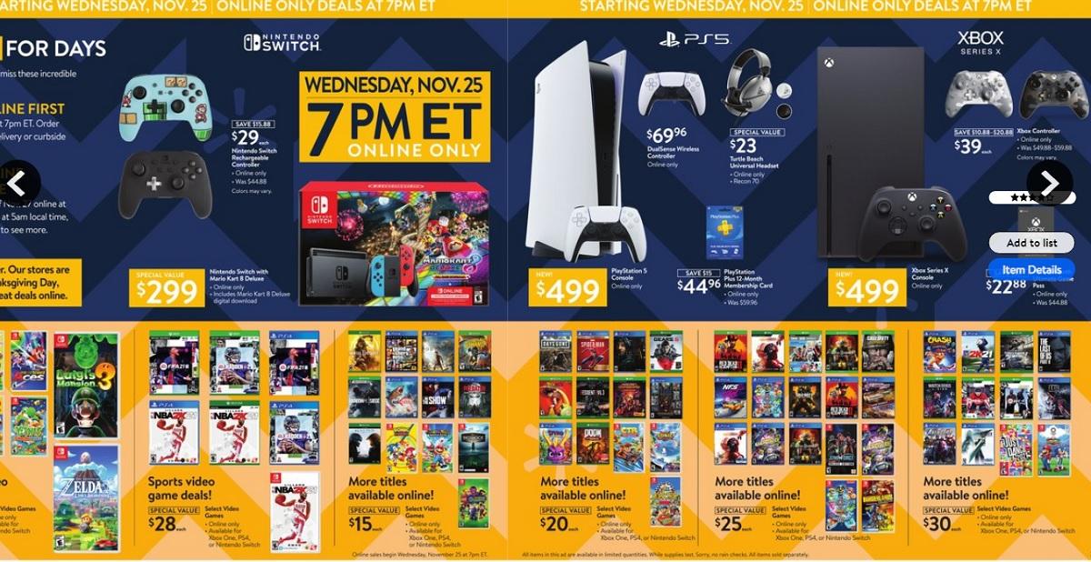 Walmart Black Friday Game Electronics Deals