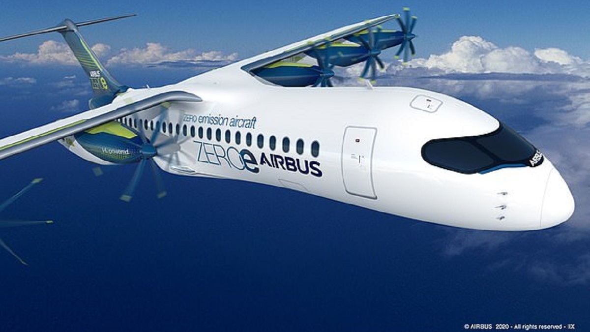 Airbus Hydrogen fuel cell electric airplane