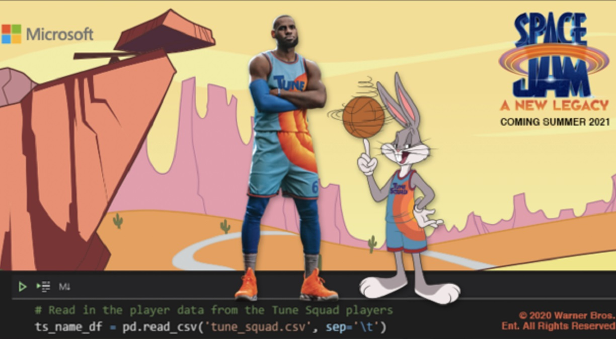 Space Jam: A New Legacy arcade game