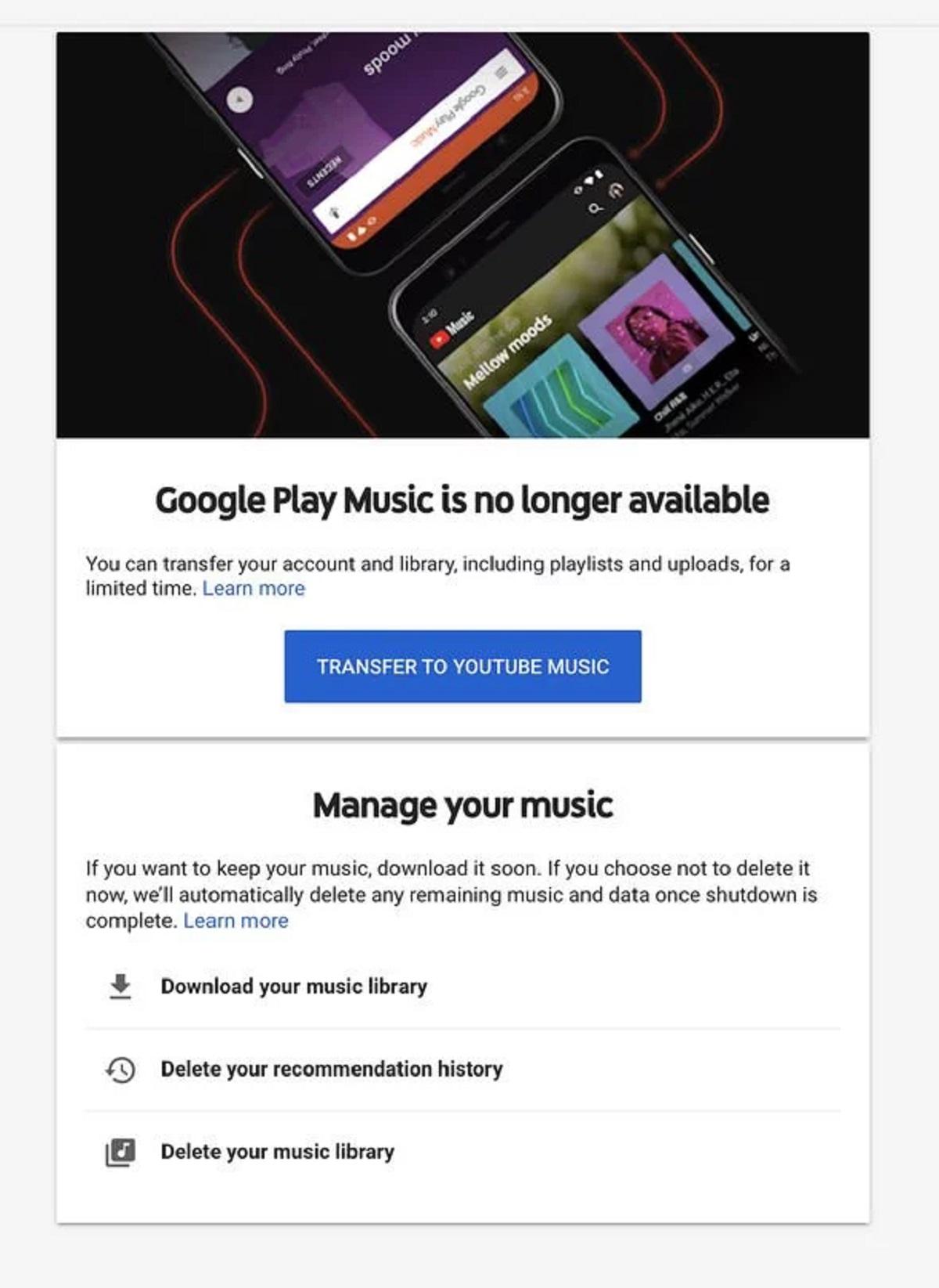 Google Play Music YouTube