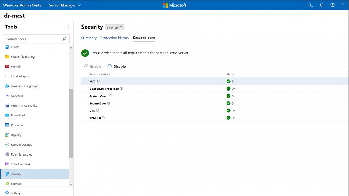 Microsoft Windows Server 2022 Secured-core