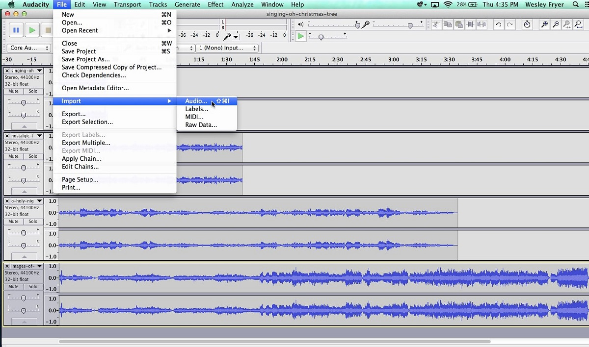 Audacity Muse Group Open Source Free Audio Editor
